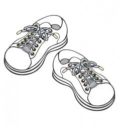 children's sneakers vector image vector image