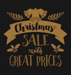 Christmas and seasonal retail poster vector image vector image