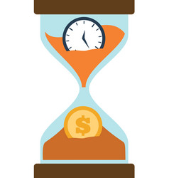 Clock glass sand business clock money vector