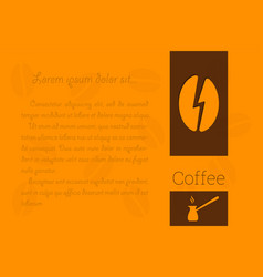 coffee there is a place for the text block vector image vector image