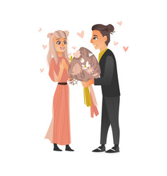 couple in love at valentine s day vector image vector image