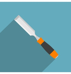 flat chisel vector image vector image