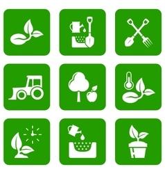 garden green icons vector image vector image