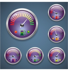 Glass realistic sensor gasoline vector image vector image