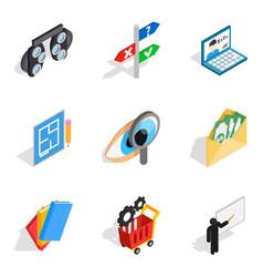 Human evolution icons set isometric style vector