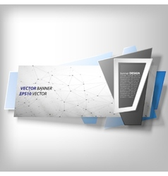 Infographic banner origami styled vector image vector image