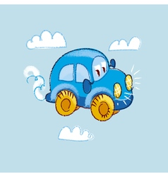 Kiddy toy car in the sky vector