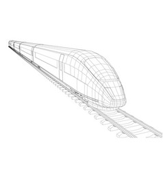modern speed train silhouette vector image vector image