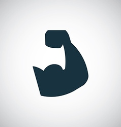 Muscle arm icon vector