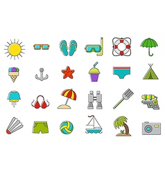 Set of vation icons vector image vector image