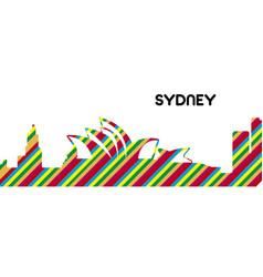 skyline of sydney vector image