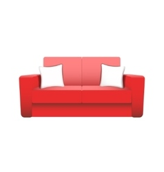 sofa isolated on white background vector image vector image