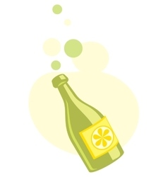 Soft drink bottle icon vector image