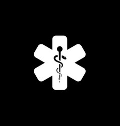 Star of life icon flat design vector