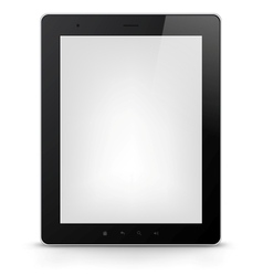 Tablet PC EPS 10 vector image vector image