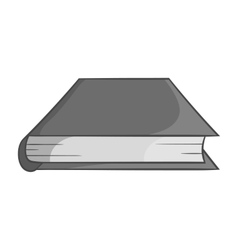 Thick book icon black monochrome style vector image vector image