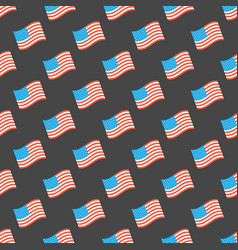 Usa flag seamless pattern vector