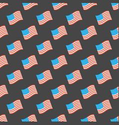 usa flag seamless pattern vector image