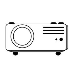 Video projector icon image vector