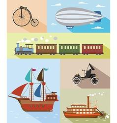 Vintage means of transportation vector