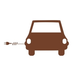 Electrical car icon image vector