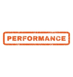 Performance rubber stamp vector
