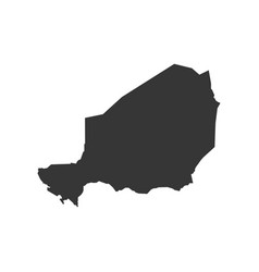 Niger map silhouette vector