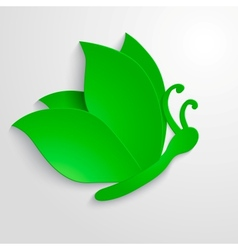 Eco butterfly vector