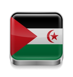 Metal icon of sahrawi arab democratic republic vector