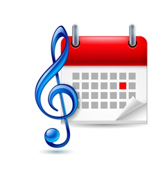 Music event icon vector