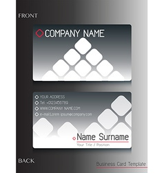 A grey colored business card vector