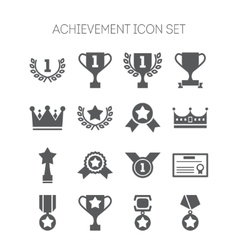 Set of simple achievement icons for web design vector
