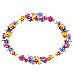 Pansy wreath vector