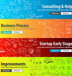 Flat style design concepts for business strategy vector
