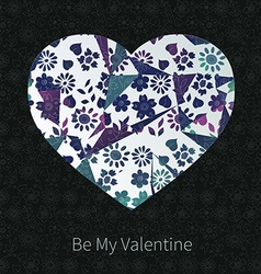Dark valentine hear design vector