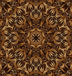 Golden vintage seamless pattern vector
