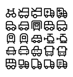 Transport icons 6 vector