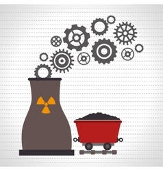 Nuclear reactor and mining isolated icon design vector