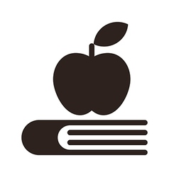 Apple on a book - Education symbol vector image vector image