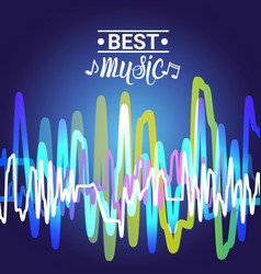 Best music banner colorful modern musical poster vector