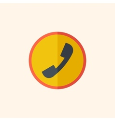 Call flat icon vector
