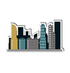 city buildings icon vector image vector image