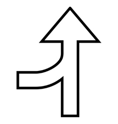 Connection arrow up outline icon vector