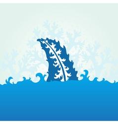 Decorative shark fin vector