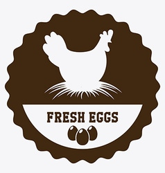 eggs design vector image
