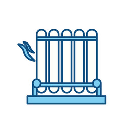 Electric grill symbol vector