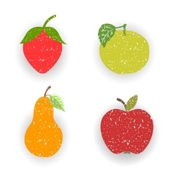 Fruits-pears and apples vector