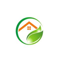 Green house garden environment logo vector