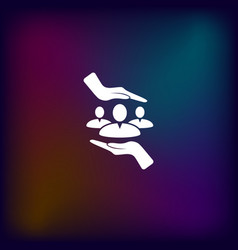 Group of people and hands icon vector