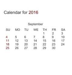 modern calendar for 2016 vector image